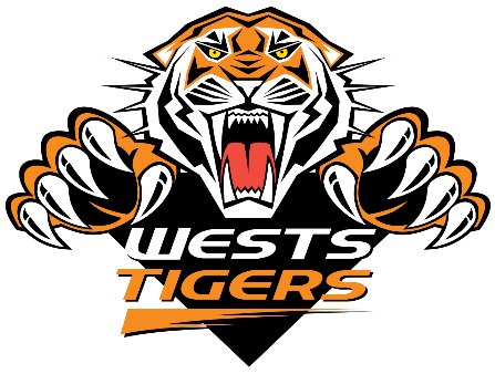 Image result for wests tigers logo