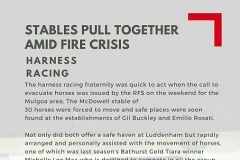 Our local harness racing fraternity during bushfire crisis